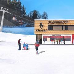 Vizualizace nové údolní stanice lanovky Fleckalmbahn - © Bergbahn Kitzbühel AG