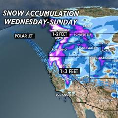 1.15 Snow Before You Go: 1-3 feet coming for the Sierras, Cascades - ©Meteorologist Chris Tomer