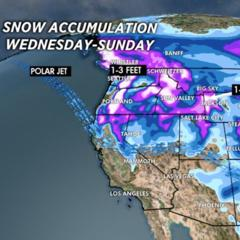 1.8 Snow Before You Go: 2 Storm Systems Deliver Snow to the West - ©Meteorologist Chris Tomer