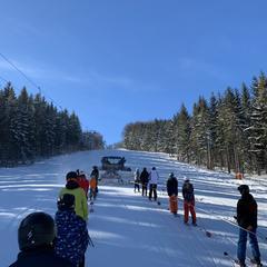 Skijőring ve Skiparku Filipovice - © facebook | Skipark Filipovice