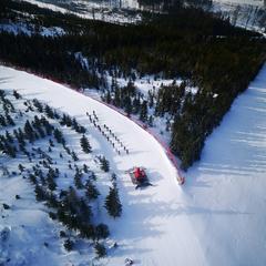 Skijőring z ptačí perspektivy - Horský resort Dolní Morava - © facebook | Horský resort Dolní Morava