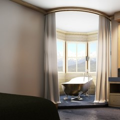 Suite at the Walserhof hotel in Klosters, Switzerland - © Walserhof hotel