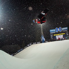 Louie Vito took the eighth and final spot to advance to the finals in Snowboard Superpipe elimination. - ©Jeremy Swanson