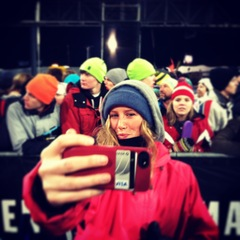 Ellery Hollingsworth enjoys the glamorous side of the sport while posing with all the fans at X Games.  - ©Meg Olenick