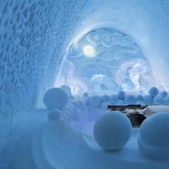 Dračí rezidence v Ice hotelu - © Paulina Holmgren/Dorjsuren Lkhagvadorj/Bazarsad Bayarsaikhan/Ice Hotel