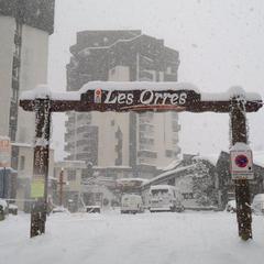 Chute de neige en cours aux Orres... - ©OT les Orres