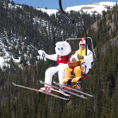 The Easter Bunny visits Arapahoe Basin each spring. - © Photo courtesy Arapahoe Basin Resort.
