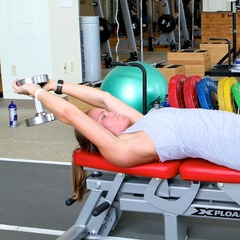 Ski Exercises: Dumbbell Lat Pullover With Hip Flexion - ©OnTheSnow.com