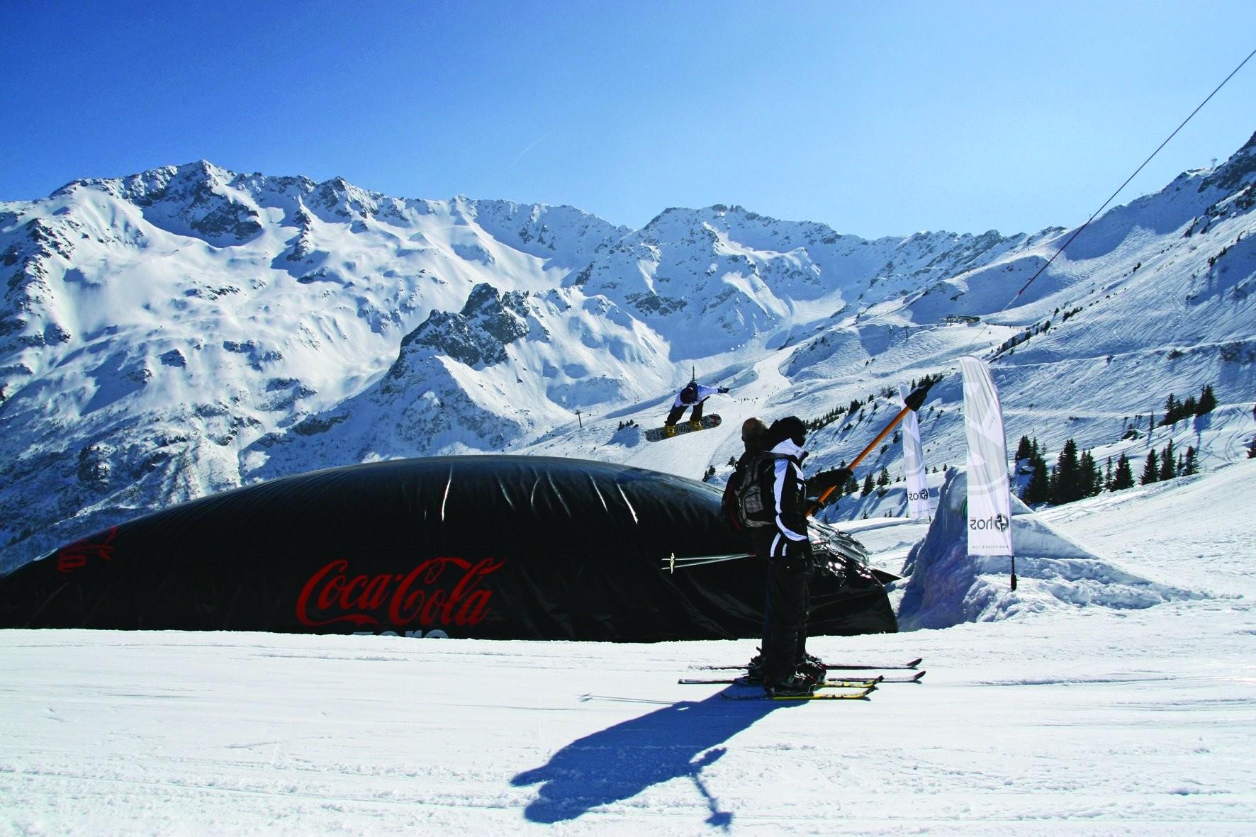 big airbag sur le snowpark des 7 Laux
