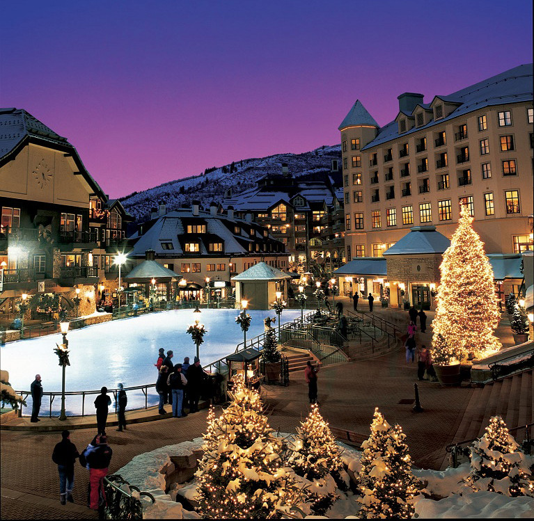 ice skating at beaver creek resort