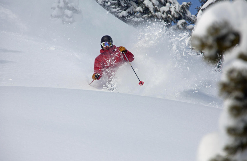 Powder skiing at Hoodoo. Photo courtesy of Hoodoo Ski Area.undefined