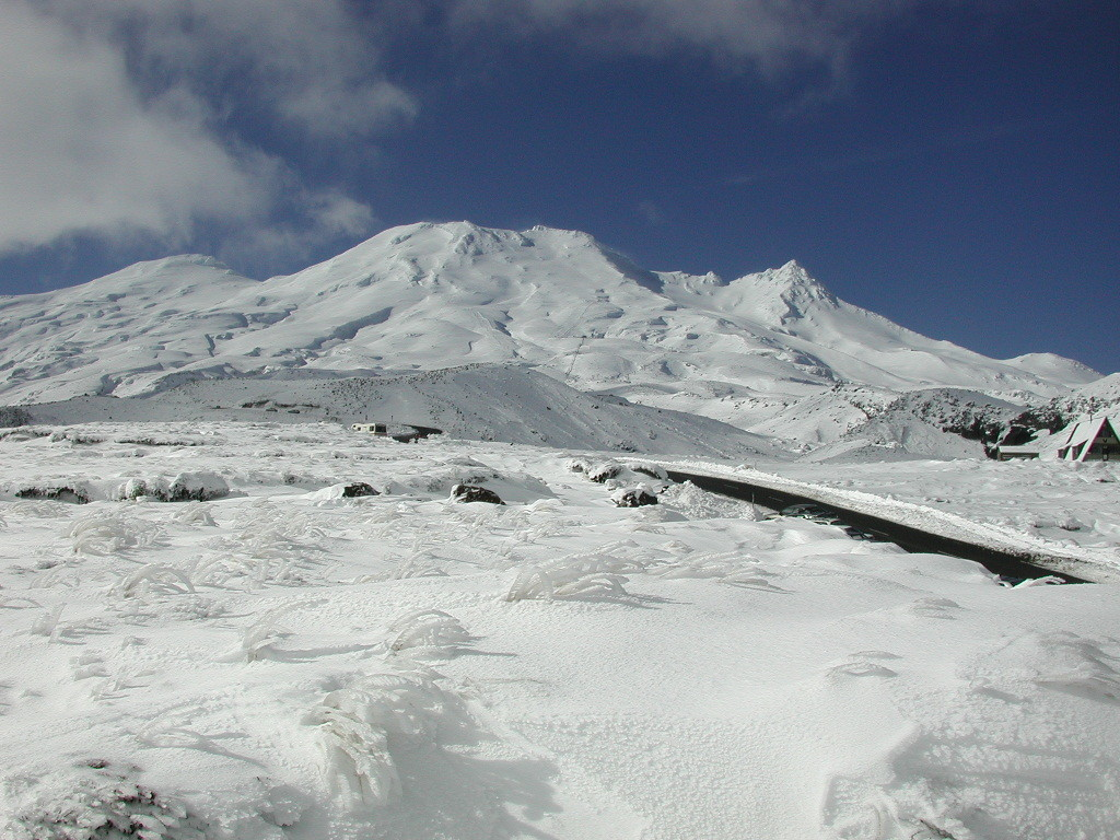 Mt Ruapehu New Zealand in winterundefined